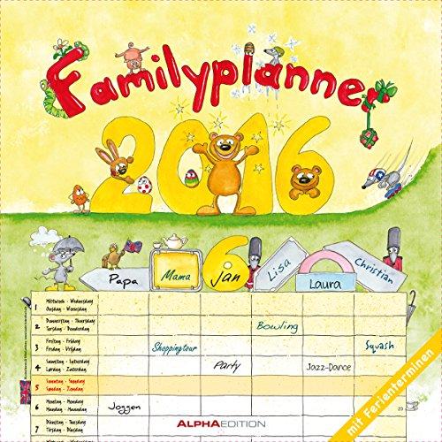 Familienplaner 2016 - Broschürenkalender (30 x 60 geöffnet) - mit 6 Spalten - mit Ferienterminen - Familientermine - Wandplaner, Buch