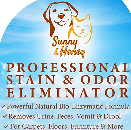 Enzyme Cleaner, Pet Stain Remover, Odor Eliminator, Best Carpet Stain Remover, Pet Odor Eliminator, Stain Remover, Odor Neutralizer, Cat Urine Smell – Cleaner – Eliminator, Sunny and Honey