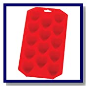 HIC Brands that Cook Silicone Heart Ice Cube Tray and Baking Mold, 8-1/2 by 4-1/4-Inch