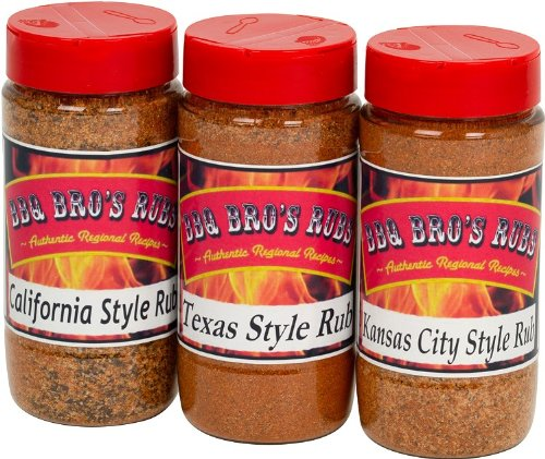 BBQ BROS RUBS {Western Style} - Ultimate Barbecue Spices Seasoning Set - Use for Grilling, Cooking, Smoking - Meat Rub, Dry Marinade, Rib Rub - Backed with 100% Customer Guarantee (Dry Meat Rubs compare prices)