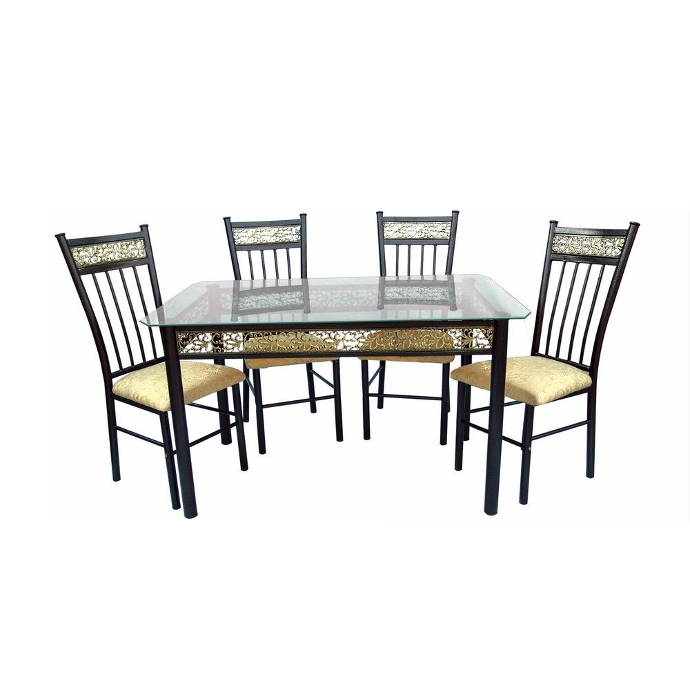 Contemporary rectangular glass top dining tables and sets for Best dining table set