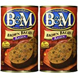 B&M Original Brown Bread in Can: Raisin (16 oz Cans) 2 Pack