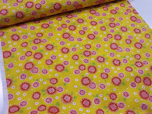 リップル サンフラワーひまわり イエロー黄色   |かわいい |生地|布地|安い|服地|手づくり
