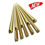 KKmoon 10PCS Brass Welding Brazing Rods Electrode 1.6mm333mm Soldering Rod No Need Solder Powder (Tamaño: 10pcs)