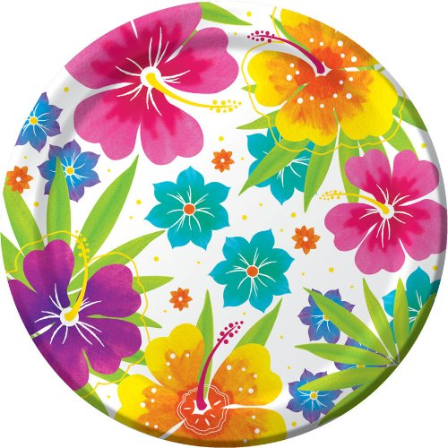 Creative Converting 8 Count Dinner Plates, Floral Delight