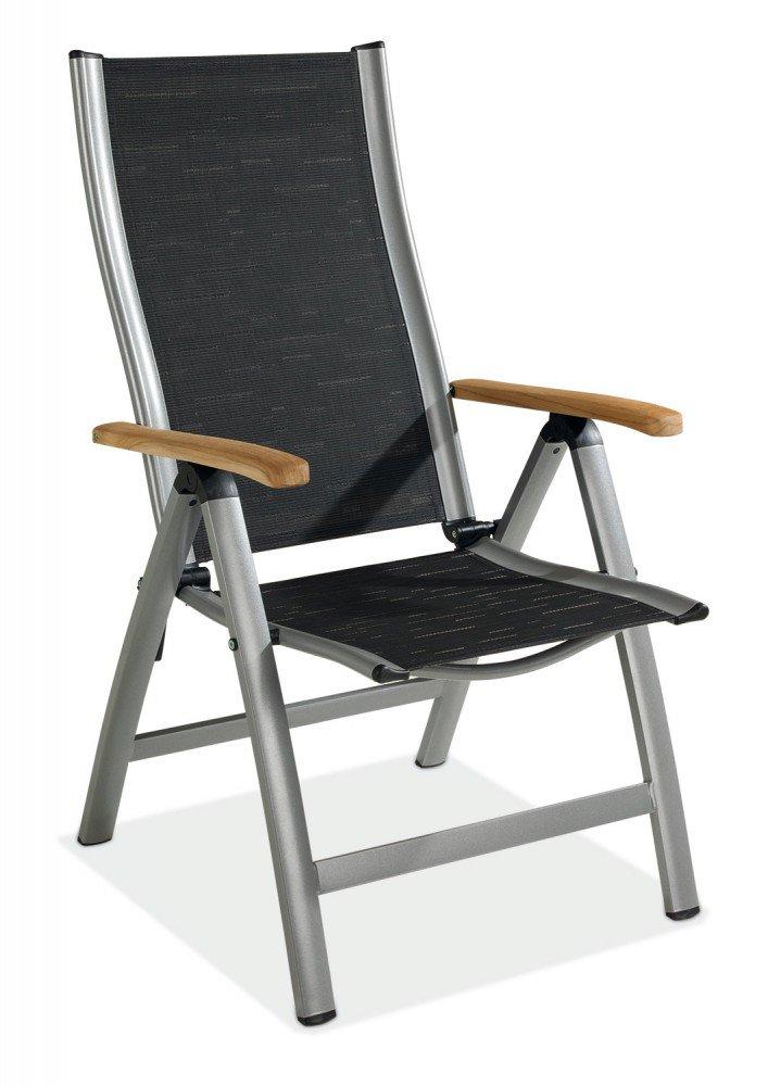 Klappstuhl Aluminium Gartenstuhl schwarz klappbar Achilles 1 kaufen