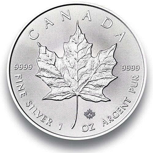 """Moneta d'argento """"Maple Leaf"""" - 2016 - confezionato singolarmente in capsule coin - argento 1 oncia - Nuovo"""