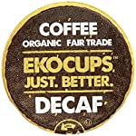 EKOCUPS Organic Artisan Coffee, Decaf , Light roast for Keurig K-cup single serve Brewers, 13g, 10 count by Crazy Cups