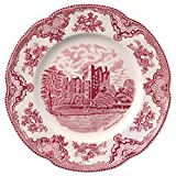 Johnson Brothers Old Britain Castles Pink Dinnerware 10-Inch Dinner Plates, Single Piece
