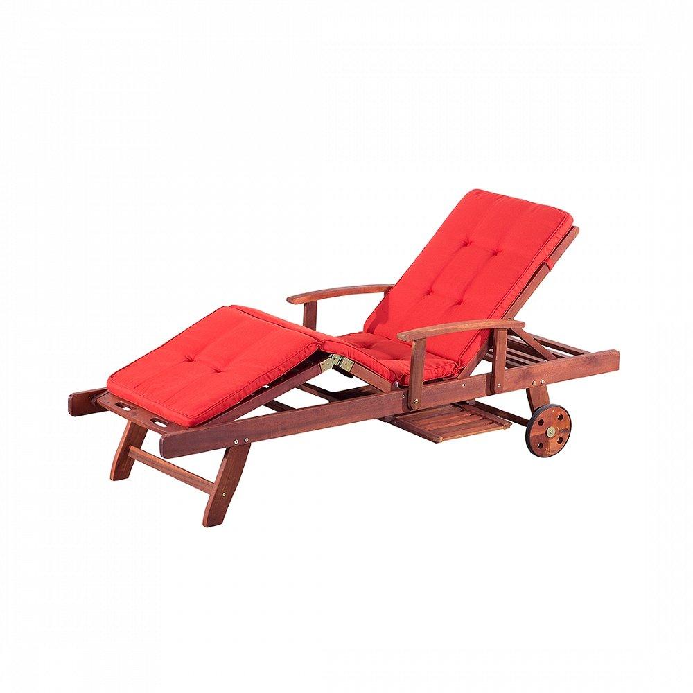 Gartenliege inkl. Auflage, terracotta hell – Liegestuhl – Sonnenliege – TOSCANA jetzt kaufen
