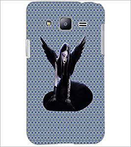 PrintDhaba Black Angel D-5742 Back Case Cover for SAMSUNG GALAXY J2 (Multi-Coloured)