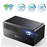Home Theater Projector HDP300 DLP Projector Support 1080P Android 5.1 Mirror Link Hi-Fi Speaker for Home Entertainment and Small Meetings (Color: HDP300 DLP Projector)