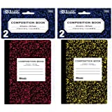 BAZIC Mini Marble Composition Book, 4.5 x 3.25 Inch, 80 sheets (2 Per Pack), 2 pack