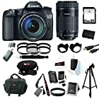 Canon EOS 70D EFS 18-135mm IS STM Kit + Canon EF-S 55-250mm f/4-5.6 IS STM Lens + 64GB SD HC Memory Card + Tiffen Photo Essentials Filter Sets (2) + Replacement Battery + AC/DC Rapid Mini Battery Charger for Canon + Accessory Kit