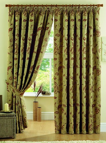 Curtina Maybury Lined Curtains, 3-inch, 90 x 72-inch, Terracotta