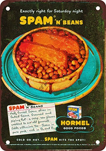 metal-wall-sign-hormel-spam-n-beans-vintage-look-reproduction-metal-tin-sign-wall-poster