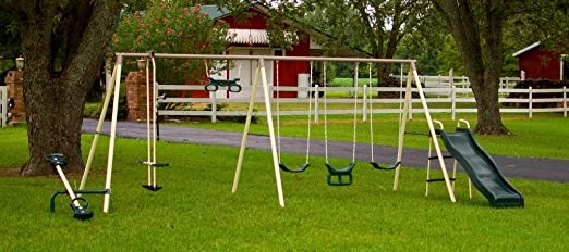 flexible flyer swing set with sandbox 1