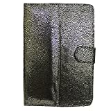 "7&Seven G5 BLING FLIP FLAP CASE COVER POUCH CARRY STAND FOR HCL ME V1 TAB TABLET 7"" GOLDEN BLACK"