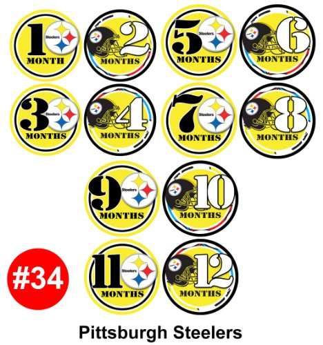 Monthly Infant Stickers - PITT FOOTBALL Baby Month Onesie Stickers Baby Shower Gift Photo Shower Stickers, by OnesieStickers