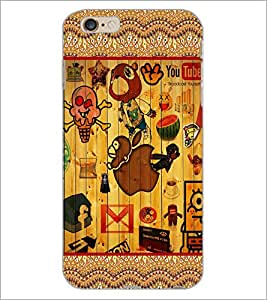 PrintDhaba Cartoon D-3062 Back Case Cover for APPLE IPHONE 6 (Multi-Coloured)