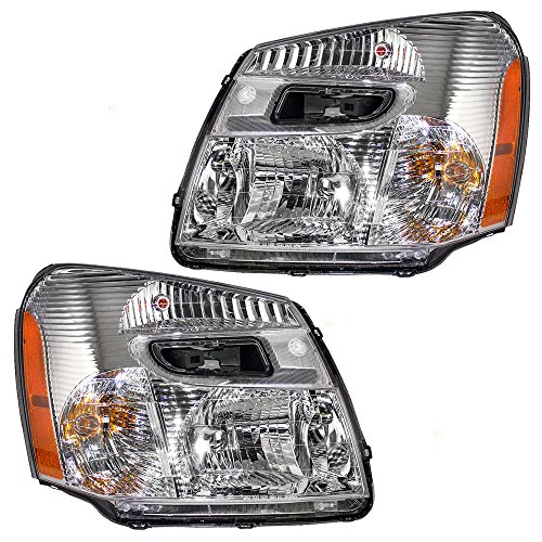 Driver and Passenger Headlights Headlamps Replacement for Chevrolet SUV 15888058 15888059 (2005 Equinox Headlight Assembly compare prices)