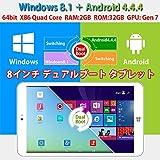 ◇MOMO8W-P806  PLOYER 8インチ デュアルブート タブレット Windows 8.1+Android 4.4.4 CPU:Intel Quad Core 1.33GHZ/RAM:2GB/ROM:32GB/GPU:Gen 7