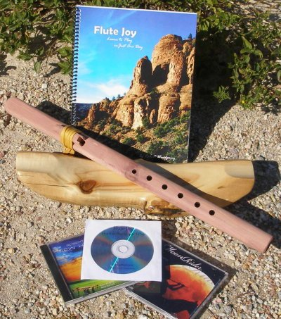 G- 6 hole Unfinished Cedar Windpony Native American Style Flute with book and 3 CDs