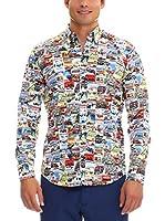 GALVANNI Camisa Hombre Gian (Multicolor)