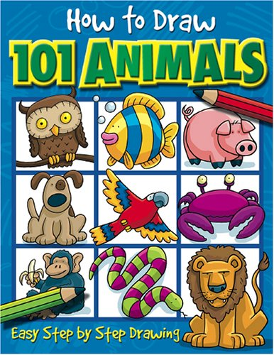 how to draw 101 animals - Drawing Books For Boys