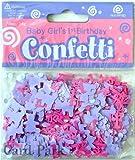 Pink & Purple Age 1 Girl Decorative Table Confetti - Approx 14g