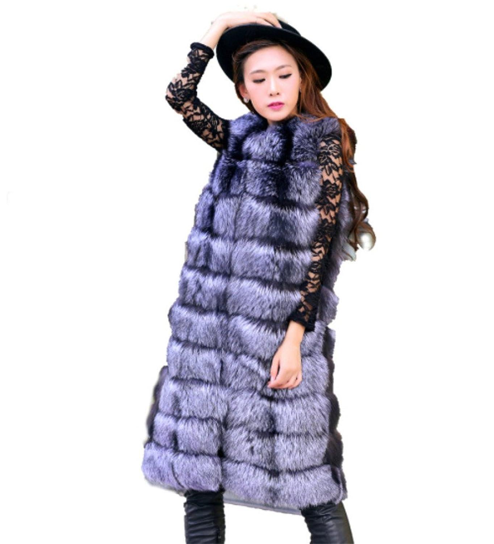 YR.Lover Mode Damen wirklich Splitter Fuchs Pelz Lang Weste&Waistcoat kaufen