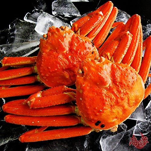【ギフト対応】 最高級 天然ズワイガニ姿 特大サイズ 蟹味噌たっぷりの厳選された本ずわいがに 贈答用にも最適 【約600g×2尾】 -