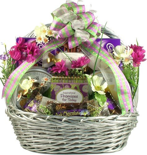 Cookie gift baskets cookie candy and fruit bouquets deluxe easter celebration elegant easter gift negle Choice Image