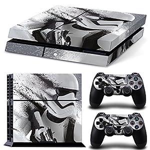 Ps4 Playstation 4 Console Skin Decal Sticker Star Wars Battlefront Stormtrooper + 2 Controller Skins Set