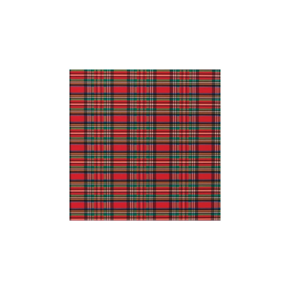 Jillson Roberts Christmas Gift Wrap, Tartan Plaid, 6 Roll Count