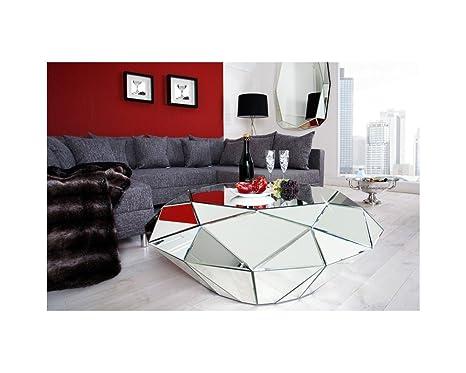Table basse en miroir Diamant