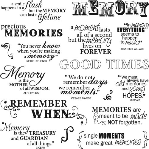 Fiskars 8-Inch by 8-Inch Quote Clear Stamps, Good Times