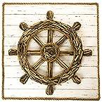 Driftwood Ship Wheel Wall Decor