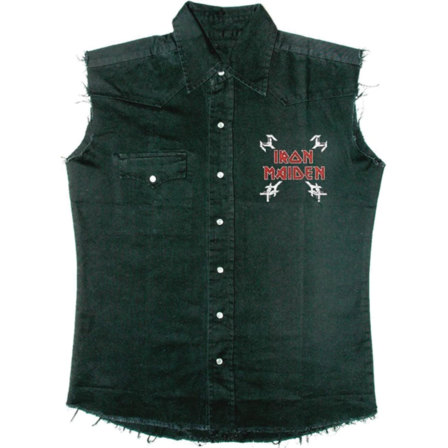 Iron Maiden Men's The Final Frontier Vintage Skull Work Shirt Black cd диск iron maiden the final frontier 1 cd