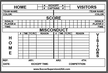 Pro Soccer Referee Score