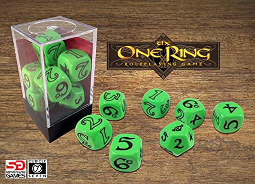 One Ring Dice Set, Green