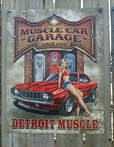 Legends - Muscle Car Garage Tin Sign (Muscle Cars Poster compare prices)