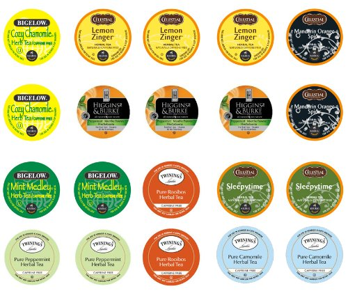 Crazy Cups Herbal Tea Sampler for Keurig K-Cups,