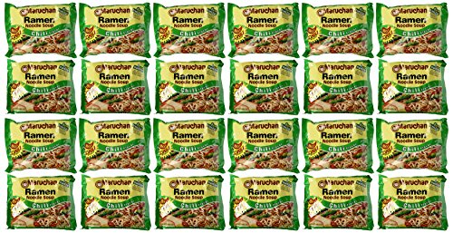 Maruchan Ramen Hot Chili Flavor, 3 oz, 24 ct (Ramen Noodle Chili compare prices)