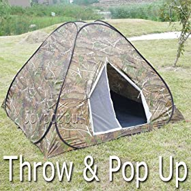 3 Person Forrest Camouflage Speedy Pop Up Hunting Camping Hiking Backpacking Tent