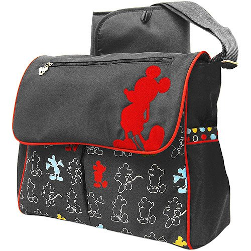 classic mickey mouse messenger diaper bag designer nappy bags nappy bags designer. Black Bedroom Furniture Sets. Home Design Ideas