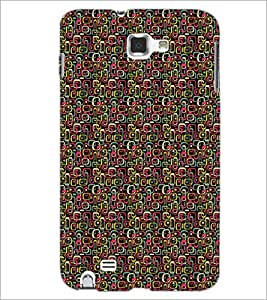 PrintDhaba Shapes Pattern D-5905 Back Case Cover for SAMSUNG GALAXY NOTE 1 (Multi-Coloured)