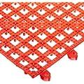 """San Jamar VM5280 Versa-Mat Interlocking Bar Mat, 12"""" Length x 12"""" Width, Red"""