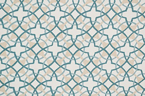 Loloi Rugs FRACFC-42IVTE2339 Francesca Collection Transitional Area Rug, 2-Feet 3-Inch by 3-Feet 9-Inch, Ivory/Teal