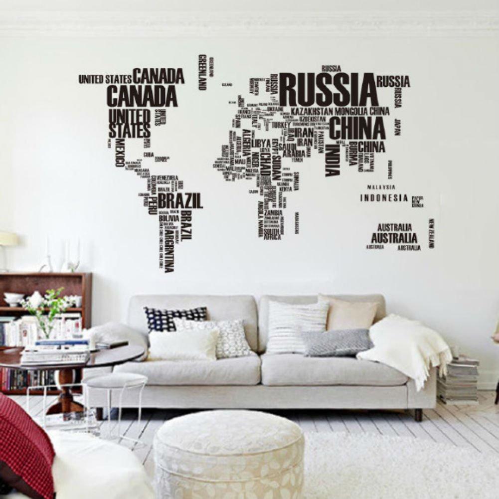 Mapa Del Mundo Carta PVC original decoración casera creativa Room Decor etiqueta de la pared   Más información y comentarios de clientes